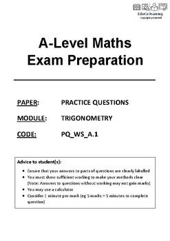 Trigonometry Exam Questions