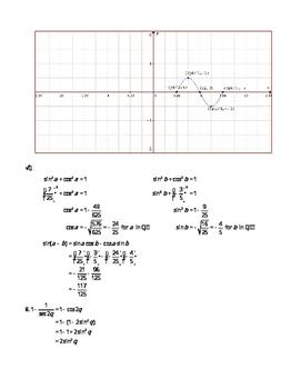 Trigonometry Final Exam