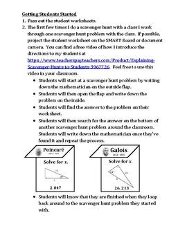 Trigonometry: Find the Missing Side Measure Scavenger Hunt Game