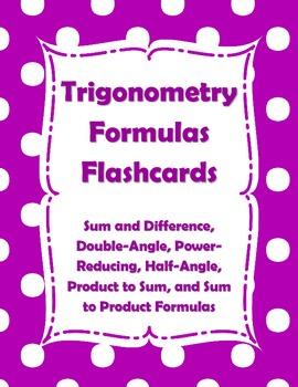 Trigonometry Formulas Flashcards