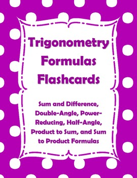 Trigonometry Formulas Flashcards