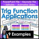 Trigonometry Function Applications Powerpoint & Keynote