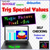 Trigonometry Special Values Magic Picture Pixel Art with GOOGLE™