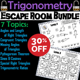 Trigonometry/ Geometry Escape Room Math: Pythagorean Theorem, Angles, Ratios etc