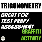 Algebra 2 Trigonometry One Pager Graffiti Activity EDITABLE