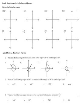 Trigonometry Homework & Quiz - From Conversions to the Unit Circle