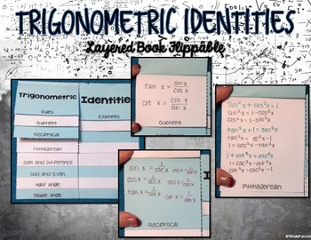 Trigonometry Identities Layered Book Flippable and Exit Ticket