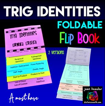 Trigonometry Identities and Formulas Flip Books