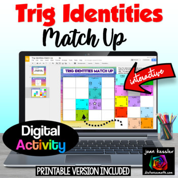 Trig Identities Interactive Puzzle with GOOGLE Slides™