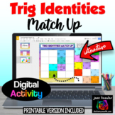 Trig Identities Digital Interactive Puzzle plus Printable  Distance Learning