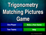 Trigonometry Interactive Matching Pairs Pictures Game