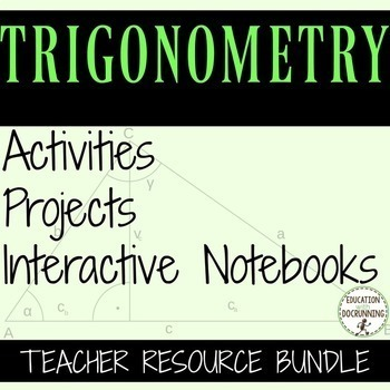 Algebra 2 Trigonometry Resource Bundle