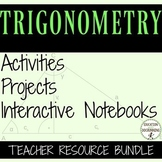 Trigonometry Curriculum Bundle for Algebra 2 Unit 13 or Tr