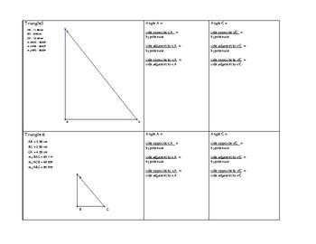 Trigonometry Investigation (sine, cosine, tAngent)