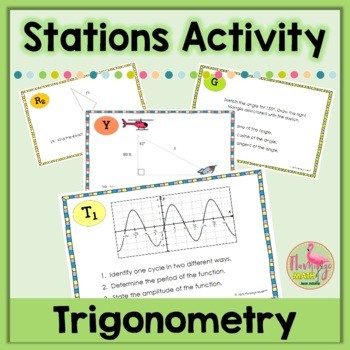 Algebra 2 Introduction to Trigonometry Stations Activity