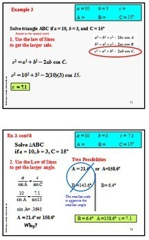 Trigonometry Law of Cosines PowerPoint and more