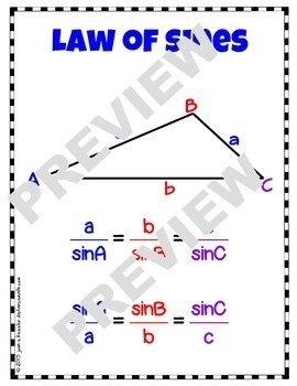 Trigonometry Law of Sines PowerPoint Notes HW Organizer