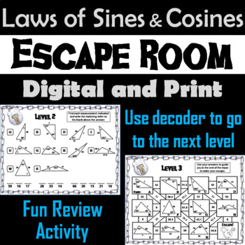 Law Of Sines And Cosines Activity Teaching Resources Teachers Pay