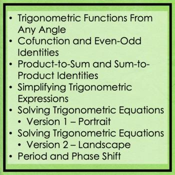 Trigonometry Maze Bundle!