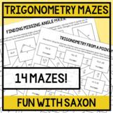 Trigonometry Mazes (14 Mazes)!