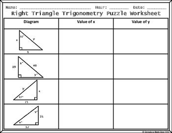 trigonometry puzzle worksheet wiildcreative. Black Bedroom Furniture Sets. Home Design Ideas