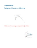 Trigonometry - Navigation, Direction, and Bearings