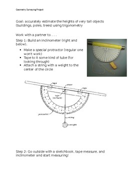 Trigonometry Outdoors: Measure Heights of Very Tall Objects