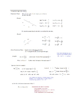 Trigonometry Packet - finding inverse trig values