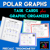 Polar Graphs Task Cards and Matching plus QR for Trigonometry PreCalculus