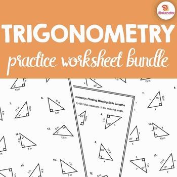 Trigonometry Worksheet Teaching Resources Teachers Pay Teachers
