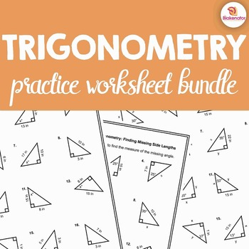 Trigonometry Worksheet Bundle - 120 Practice Problems