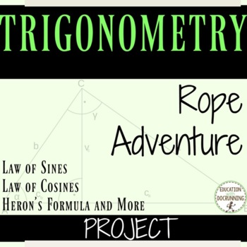 Trigonometry Project Law of Sines, Law of Cosines, Area of Non-Right Triangles