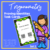 Trigonometry Proving Identities Task Cards (Set 2) (Trig Identities)