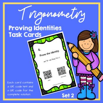 Trigonometry Proving Identities Task Cards (Set 2) (Trig I