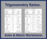 Trigonometry Ratios Activity Worksheets.