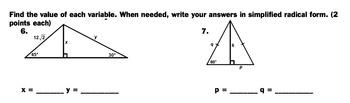 Trigonometry Ratios Quiz