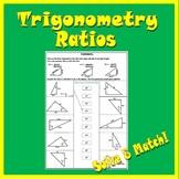 Right Triangle Trigonometry Worksheet - SOH CAH TOA