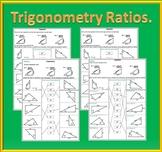 Right Triangle Trigonometry Worksheets: SOH CAH TOA