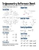 Trigonometry Reference Sheet