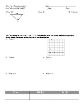 """Trigonometry Review """"Clue"""" Activity"""