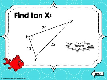 Right Triangle Trigonometry Gone Fishin' Game