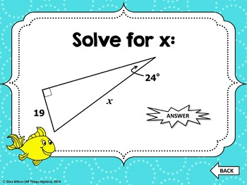 Right Triangle Trigonometry Gone Fishin' Game