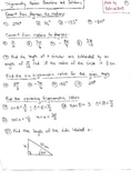 Trigonometry Review Questions and Solutions