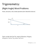 Trigonometry (Right Triangle) Word Problems