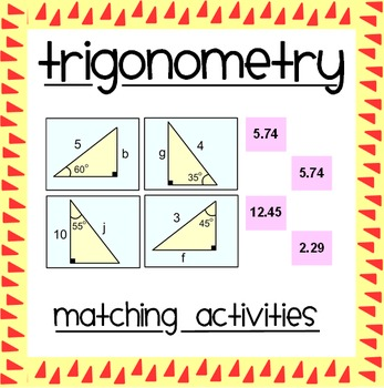 Trigonometry Matching Activities