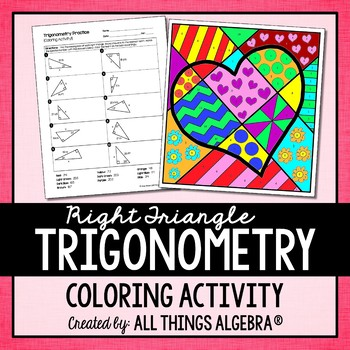 Right Triangle Trigonometry Coloring Activity by All ...
