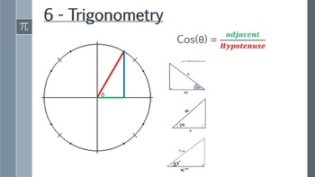 Trigonometry - SOH CAH TOA, sine and cosine rules PowerPoint