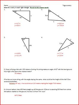 Trigonometry SOHCAHTOA (WS)