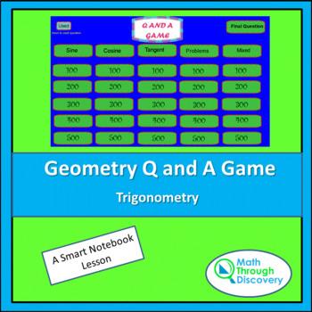 Geometry Smartboard Q and A Game- Trigonometry