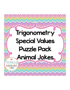 Trigonometry Special/Convenient Value Puzzle with Animal Joke